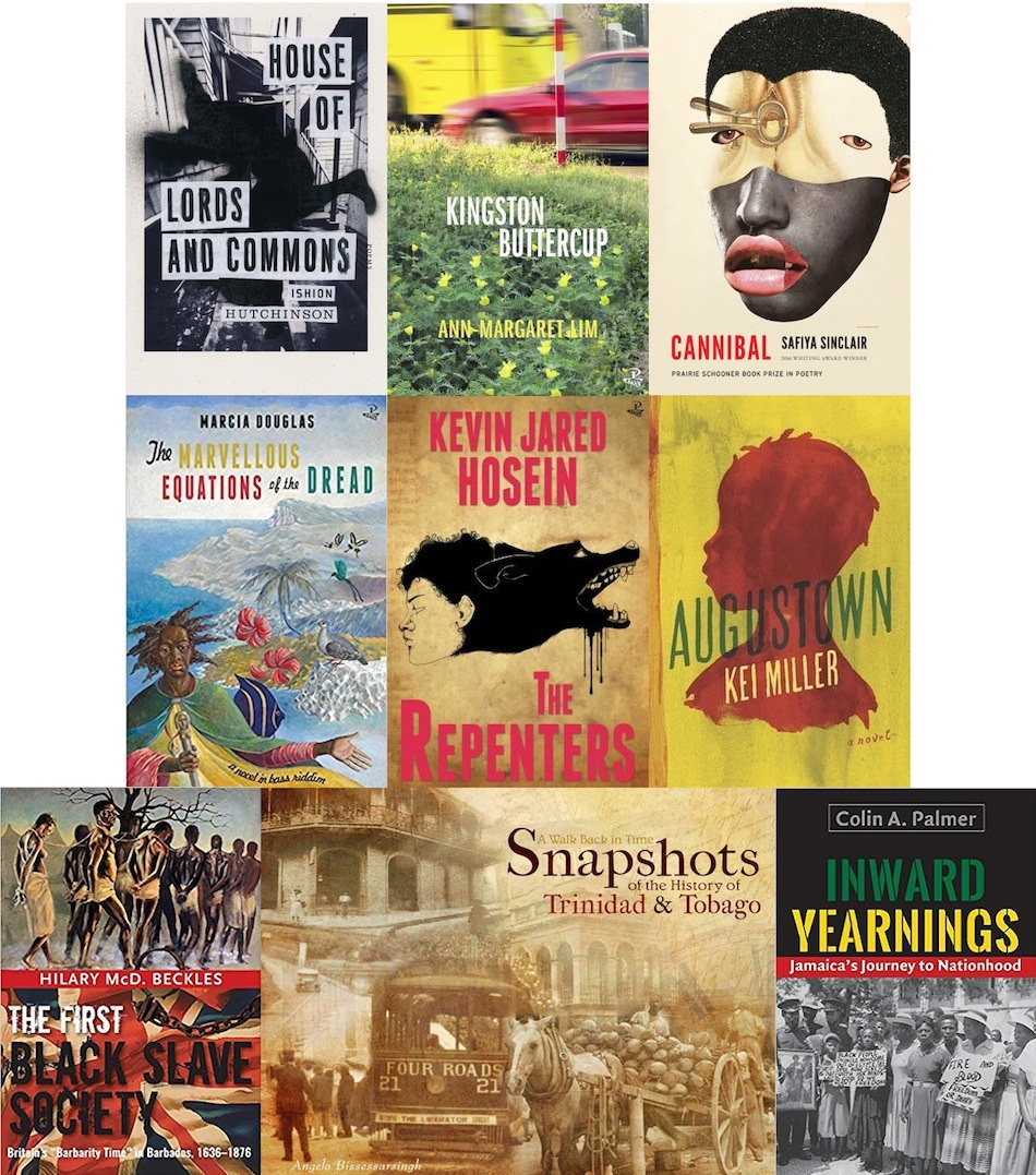 Books longlisted for the 2017 OCM Bocas Prize