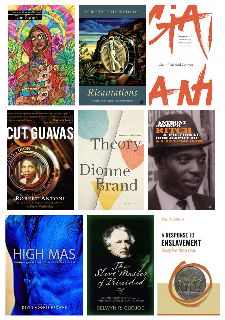 2019 OCM Bocas Prize longlisted book covers