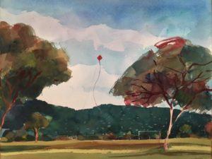 one kite rises